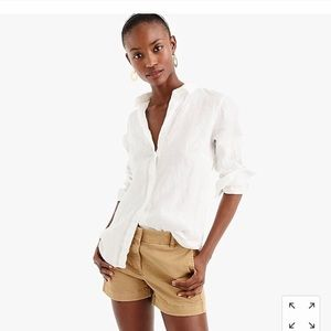 J Crew Linen Button Up